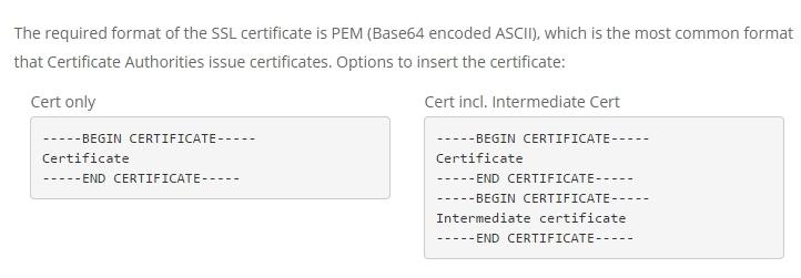 HTTPS CDN Settings at KeyCDN